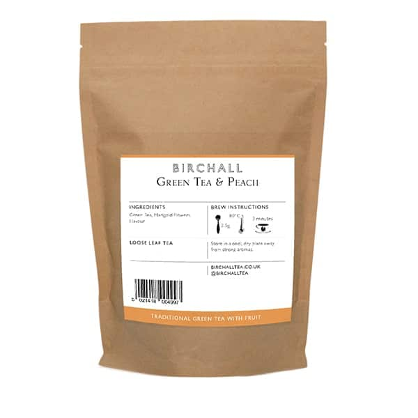 Birchall Green Tea & Peach Loose Leaf Tea