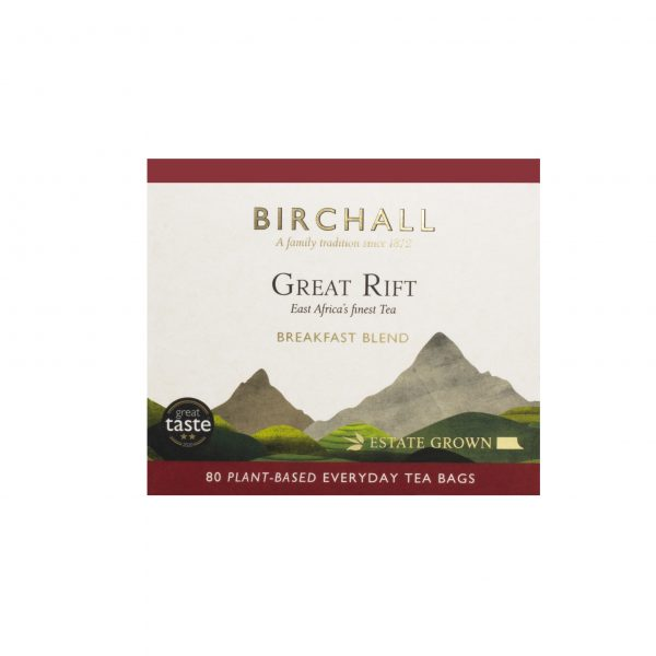 Great Rift Breakfast Blend 80 Plant-Based Everyday Tea Bags £4.99