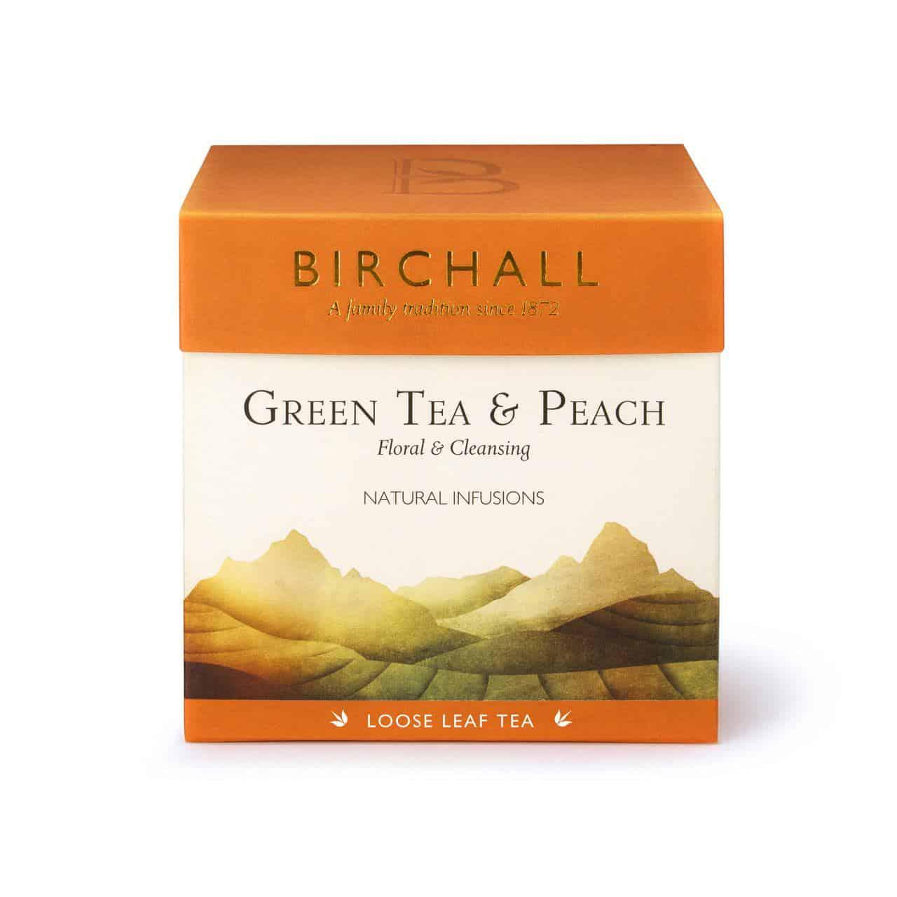 Birchall Green Tea & Peach - Loose Leaf Tea