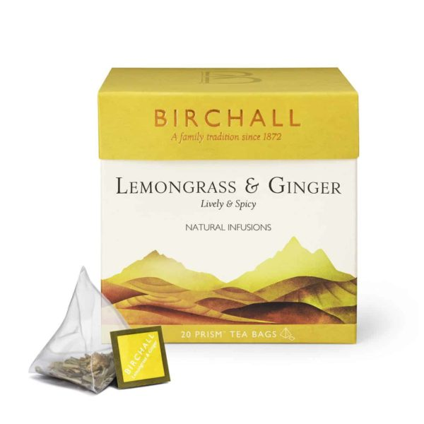 Birchall Lemongrass & Ginger - 20 Prism Tea Bags