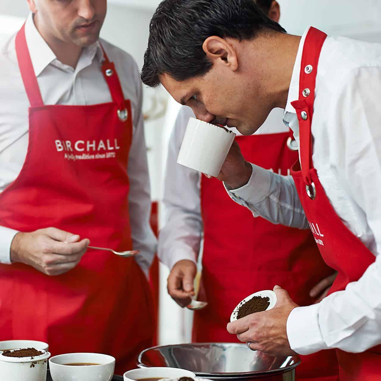 tea tasting and selection
