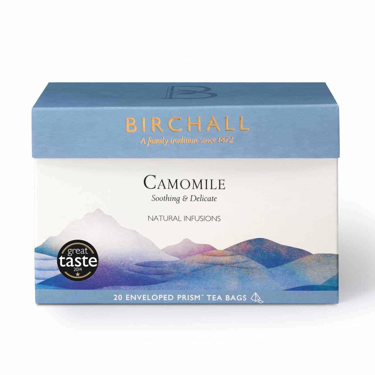 Birchall Camomile - 20 Enveloped Prism Tea Bags