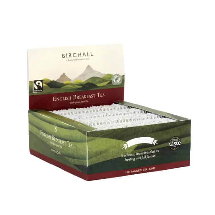 Birchall English Breakfast Tea - 100 Tagged Tea Bags
