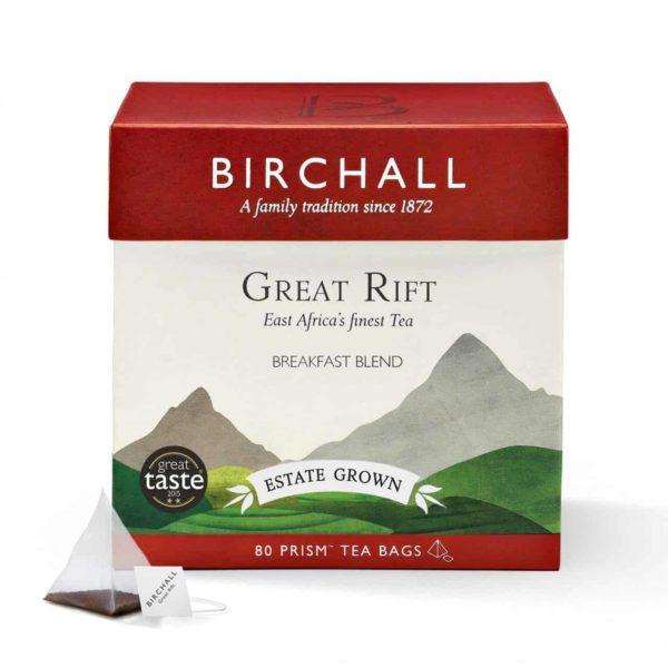 Birchall Great Rift Breakfast Blend - 80 Prism Tea Bags