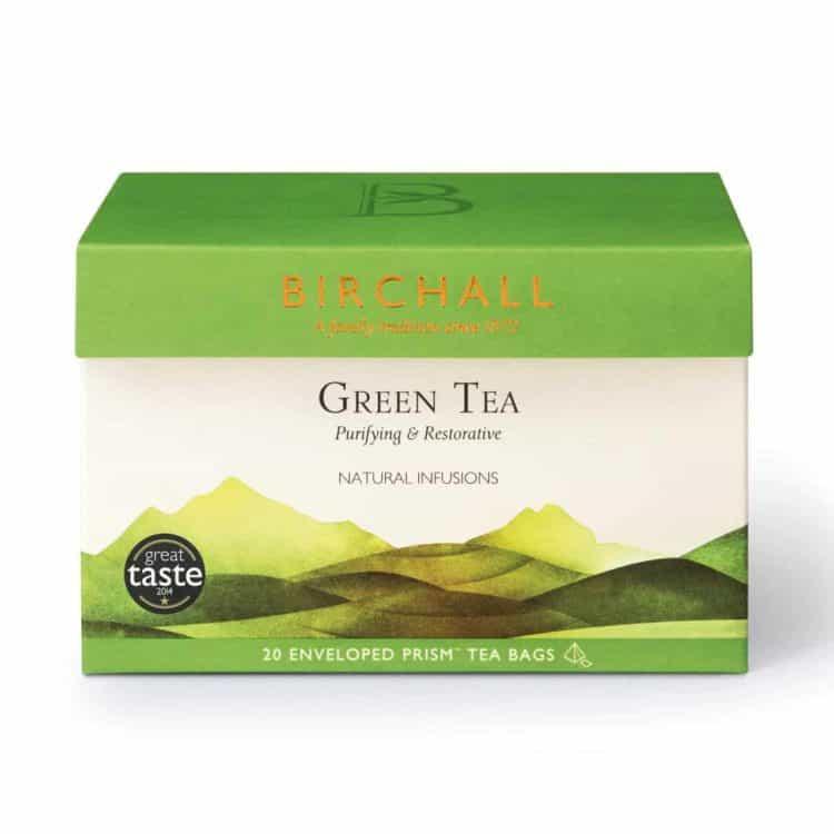 Birchall Green Tea - 20 Enveloped Prism Tea Bags