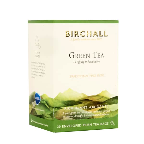Birchall Green Tea - 20 Enveloped Prism Tea Bags