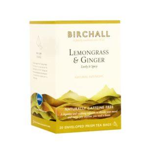 Birchall Lemongrass & Ginger - 20 Enveloped Prism Tea Bags