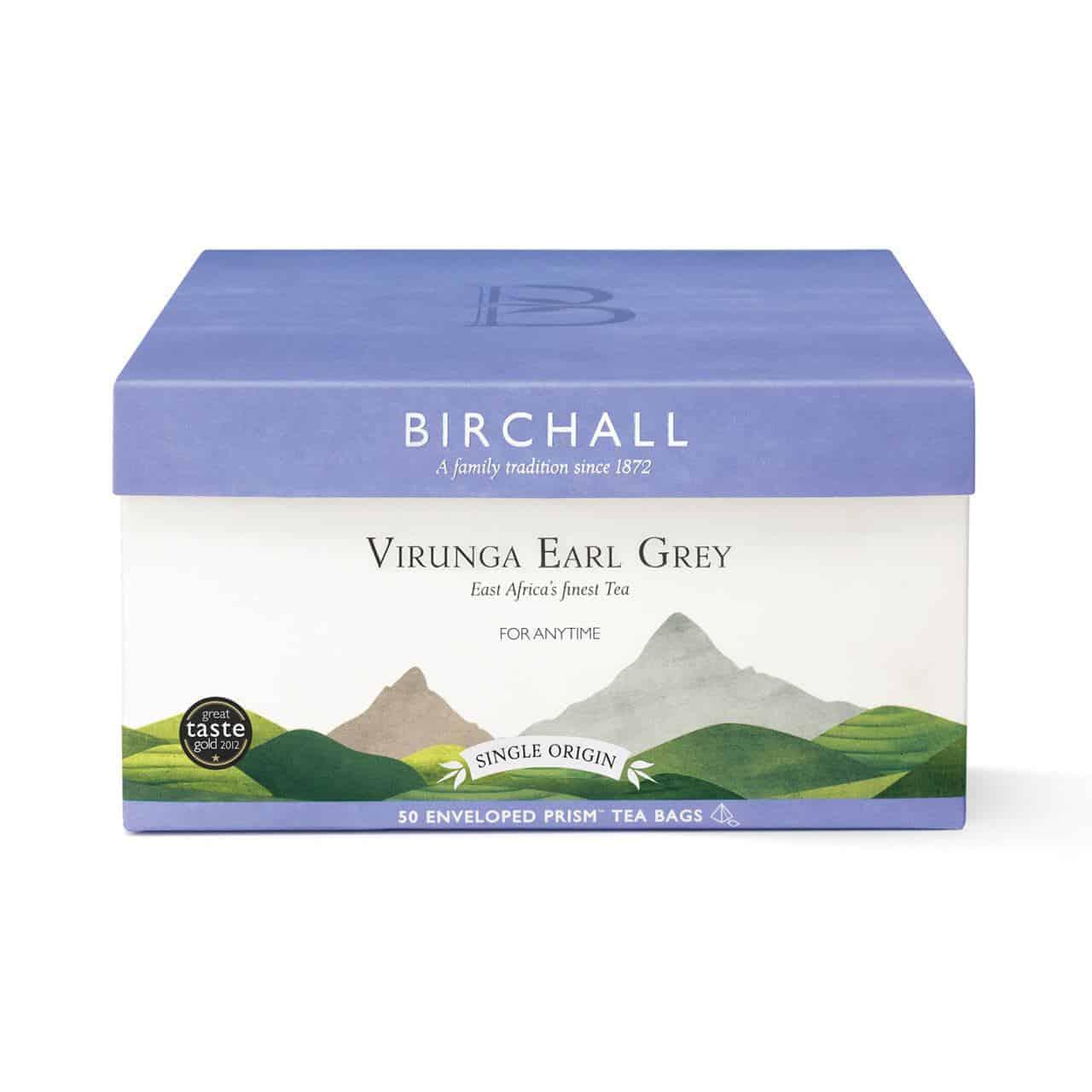 Birchall Virunga Earl Grey - 50 Enveloped Prism Tea Bags