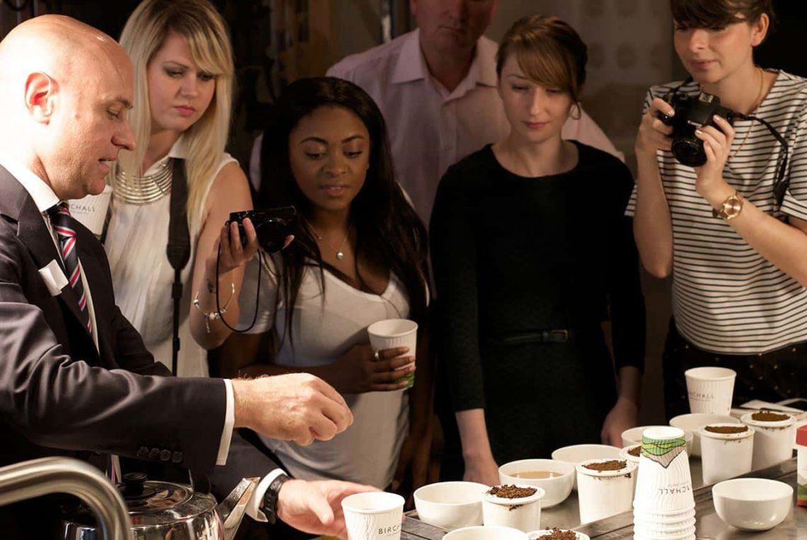 Daniel Graham, Birchall Tea MD, demonstrates our taste difference.