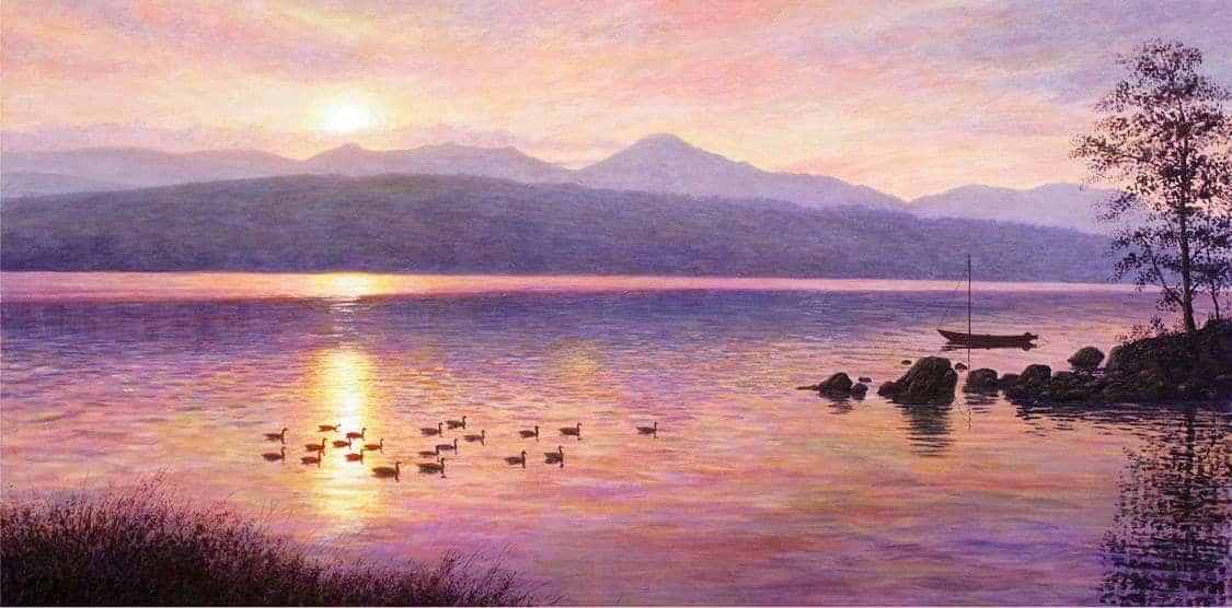 Sunset over Coiston WaterKM-min