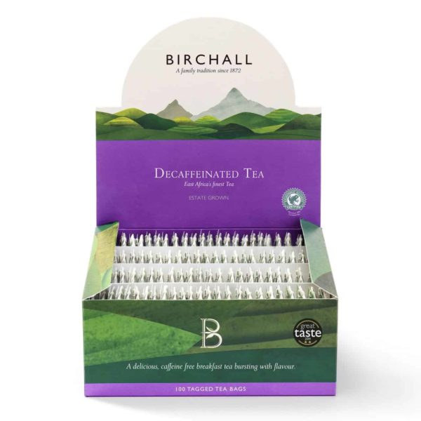 Birchall Decaffeinated Tea - 100 Tagged Tea Bags