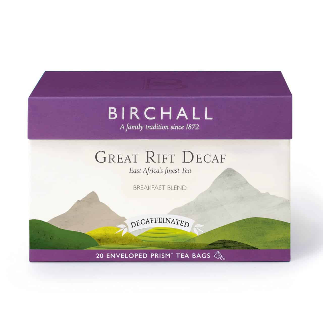 Birchall Great Rift Decaf - 20 Enveloped Prism Tea Bags