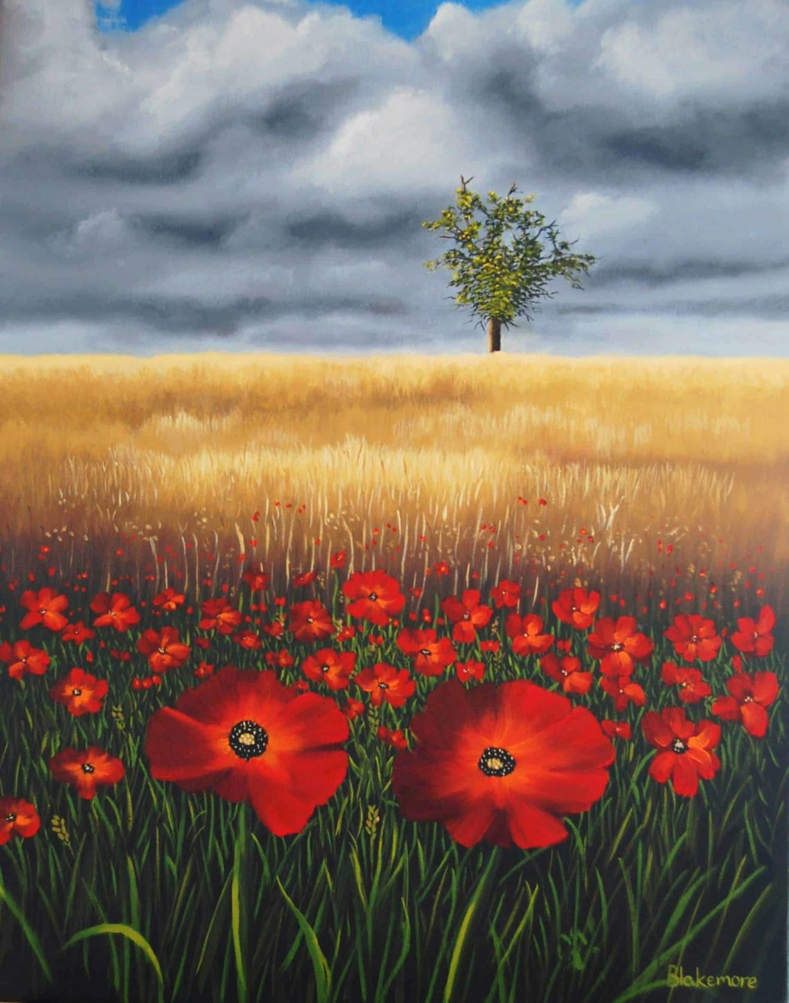 Wheatfield and Poppies-min