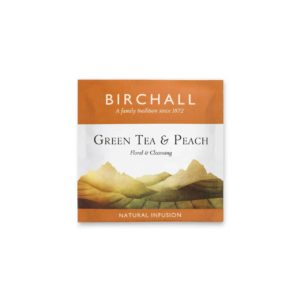 Birchall Green Tea & Peach - 20 Enveloped Prism Tea Bags