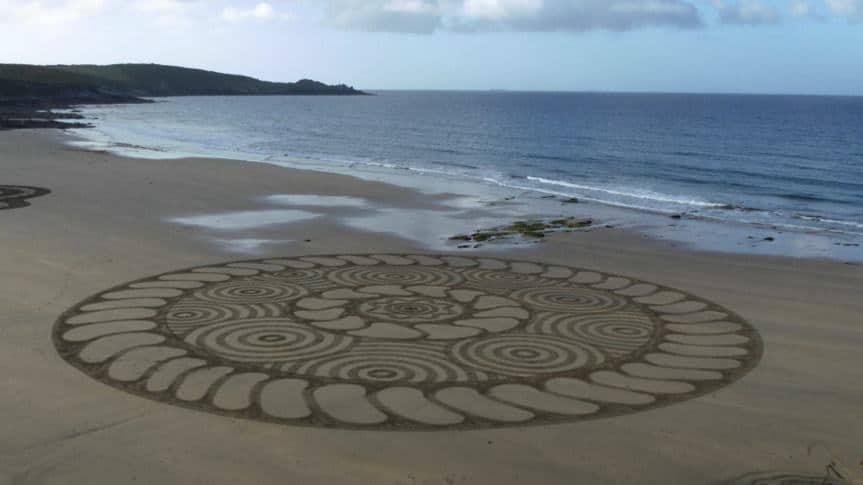 Sand Art in Cornwall