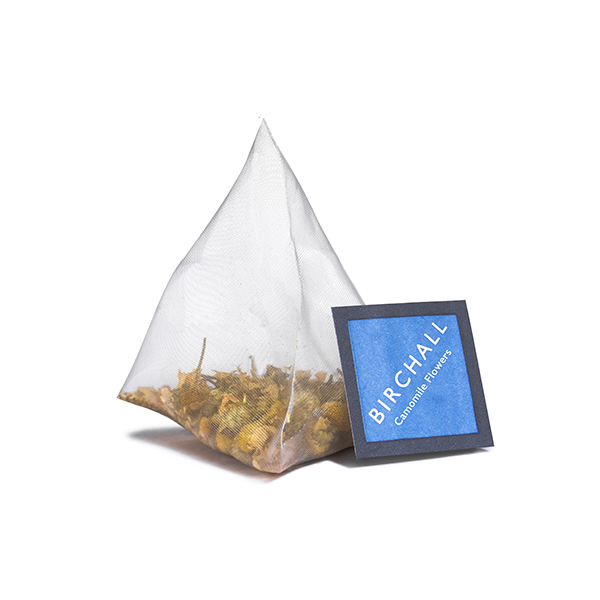 Camomile Flowers Plant-Based Prism Tea Bag