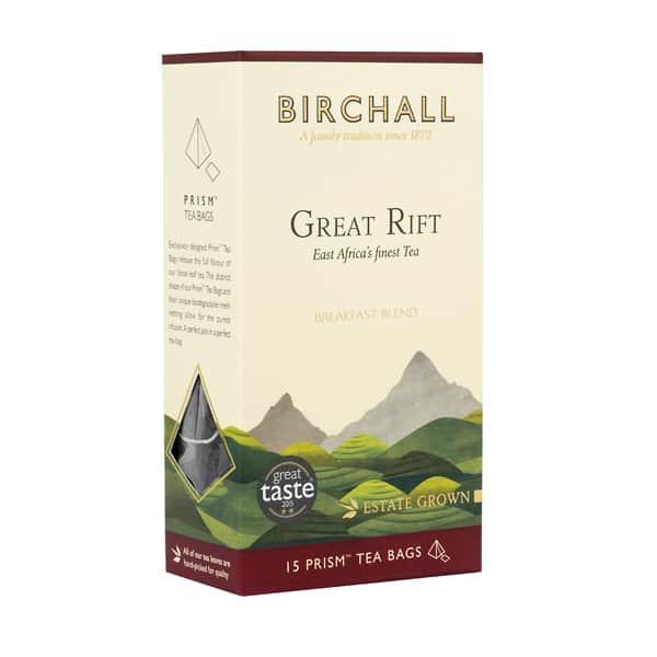 Birchall Great Rift Breakfast Blend - 15 Prism Tea Bags