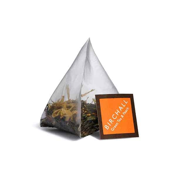 Birchall Green Tea & Peach Prism Tea Bag