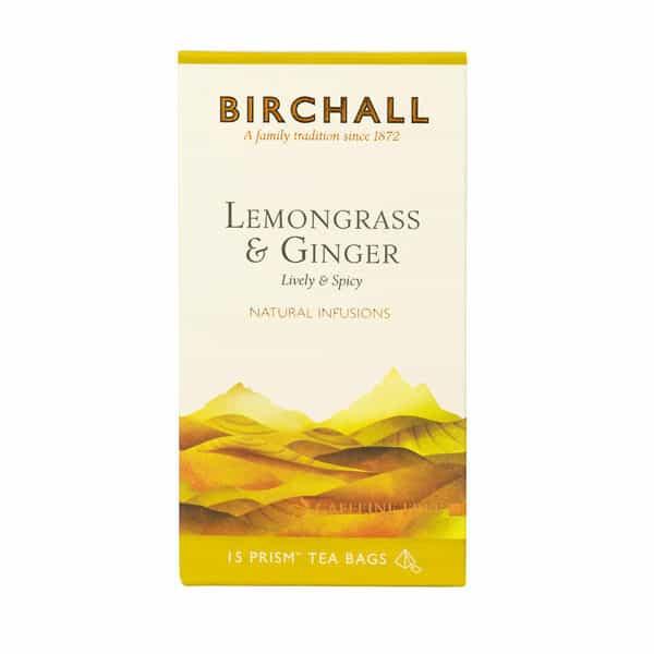 Birchall Lemongrass & Ginger - 15 Prism Tea Bags