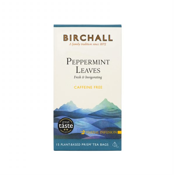 Birchall Peppermint Leaves - 15 Plant-Based Prism Tea Bags