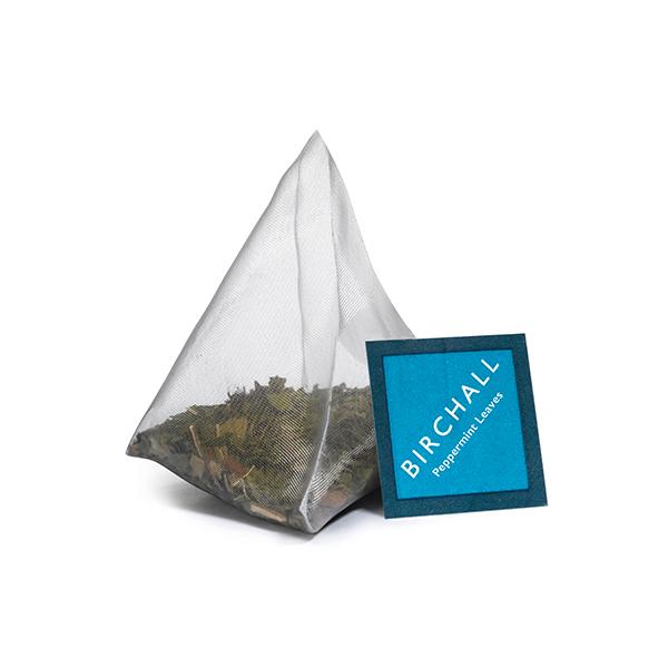 Peppermint Leaves Plant-Based Prism Tea Bag