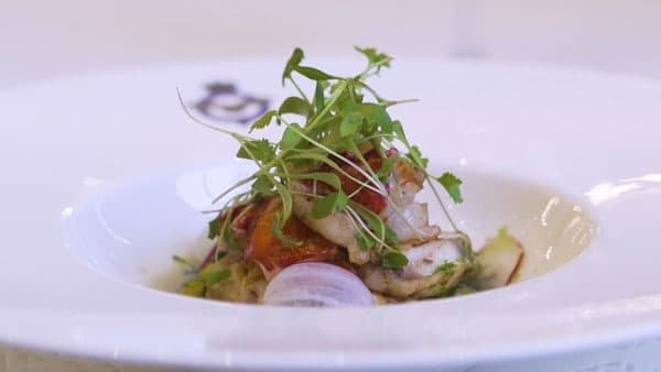 Lobster & Monkfish With Lemongrass & Ginger Infused Consommé Recipe
