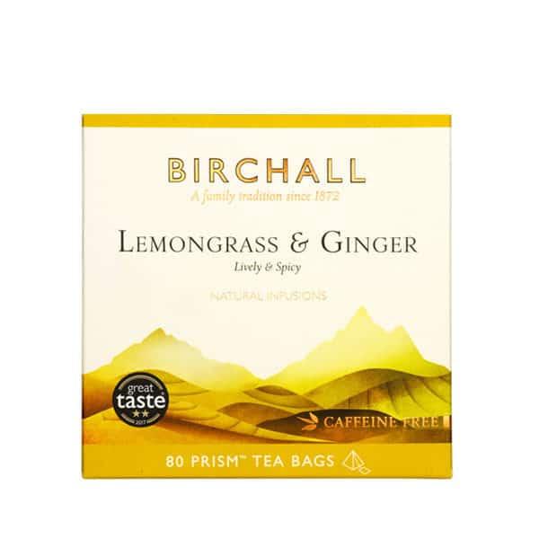 Birchall Lemongrass & Ginger - 80 Prism Tea Bags