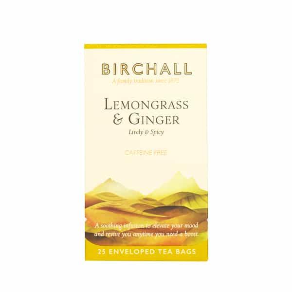 Birchall Lemongrass & Ginger - 25 Enveloped Tea Bags
