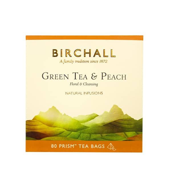Birchall Green Tea & Peach - 80 Prism Tea Bags